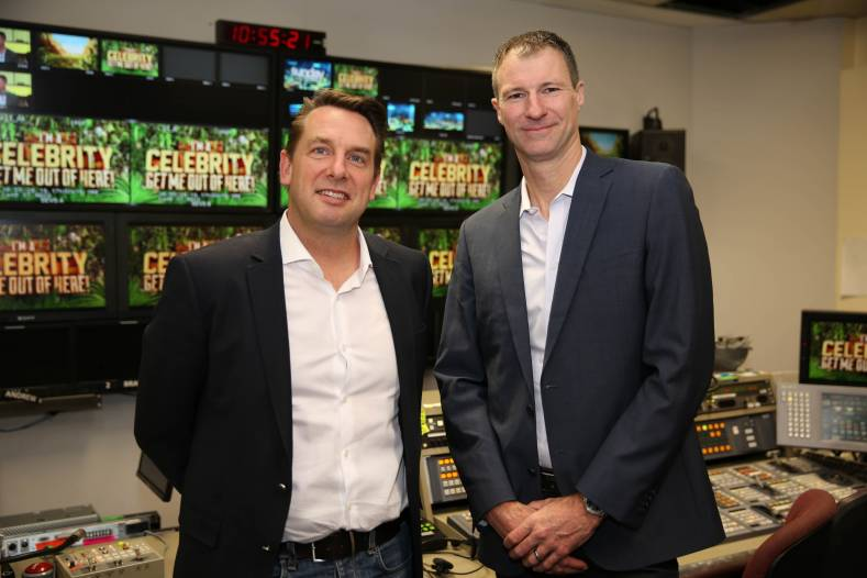 From left to right: Adam Beavis, Commercial Director for AWS in Australia and NZ and Jason Tuendemann, CTO, Network 10.