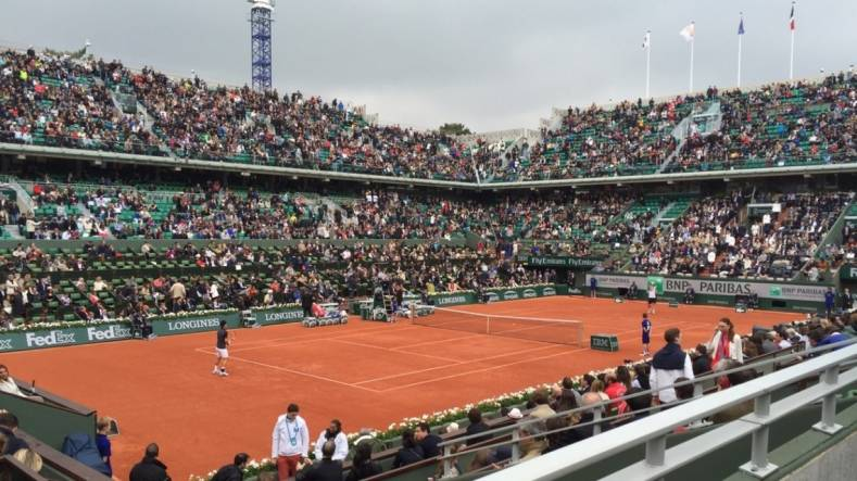 Roland Garros in Paris was the site of the recent French Open tennis matches.