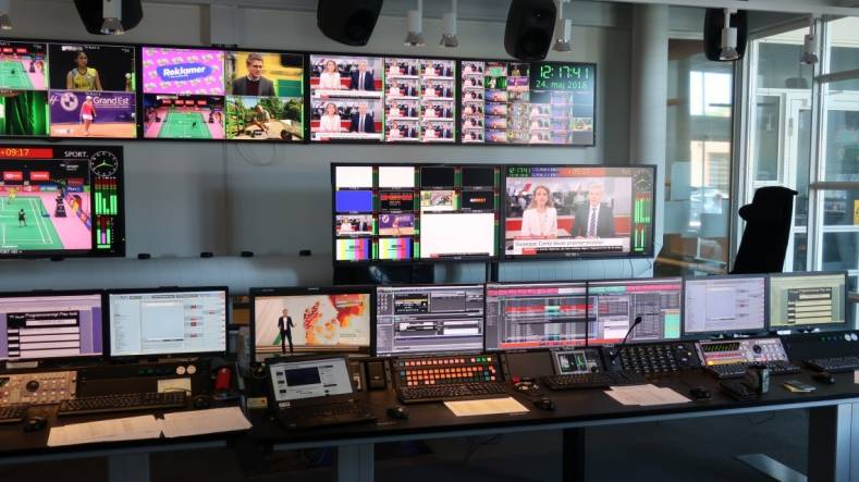 TV 2 master control in Odense, Denmark, manages eight regions and is based on a Pebble Beach Systems Marina automation system.