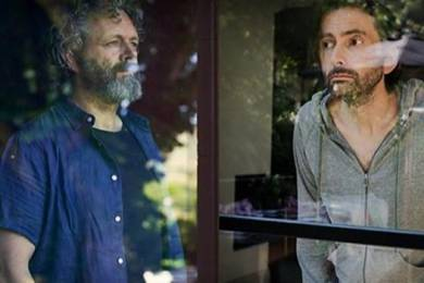 Actors Michael Sheen and David Tennant played in Staged, the BBC drama series made with social distancing in mind.