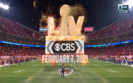 CBS has unveiled a new augmented reality graphics look for Super Bowl LV where images crumble to sand in 3D.