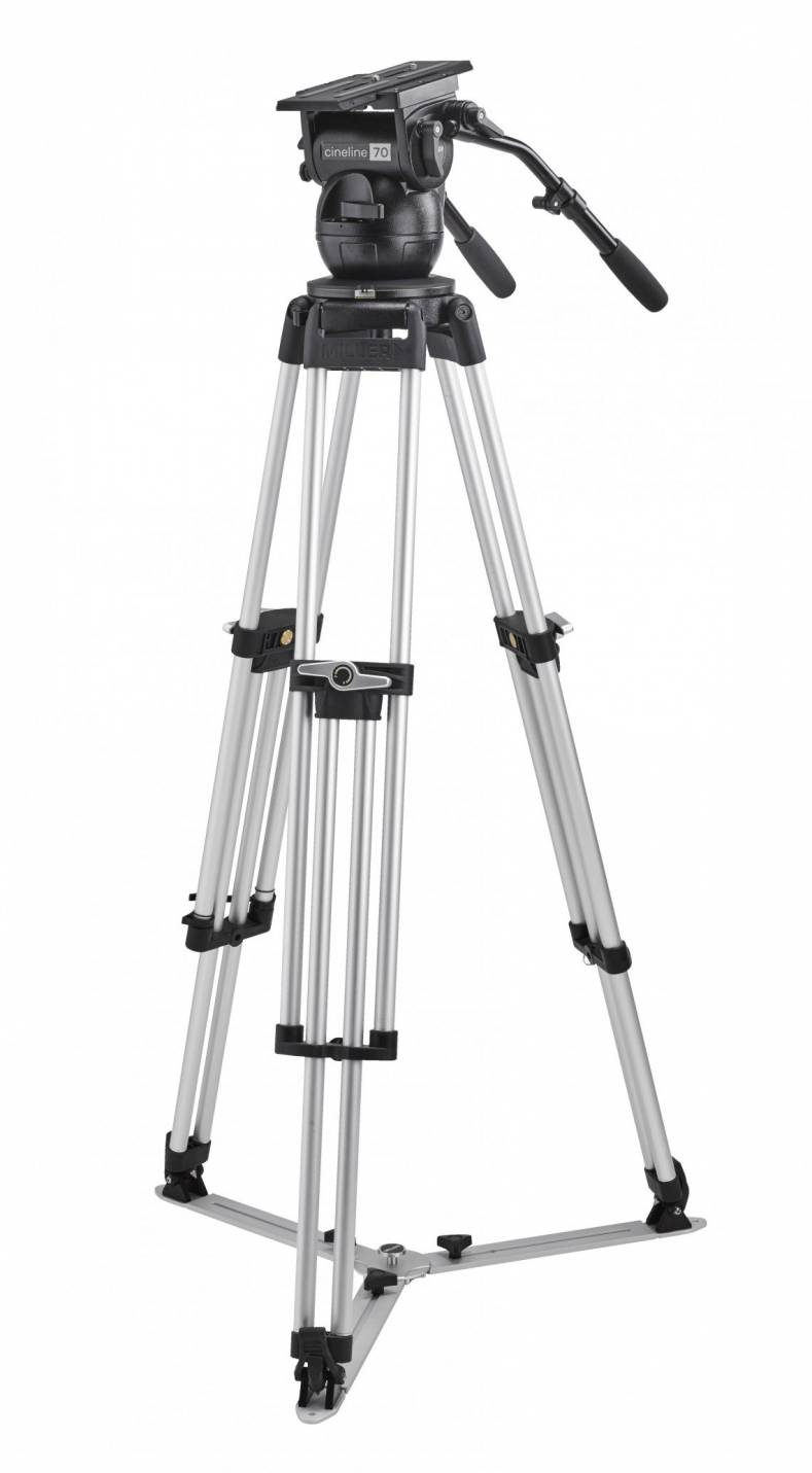 The new Cineline 2090's tripod features a high-capacity leg-lock system, offering a fast and easy setup.