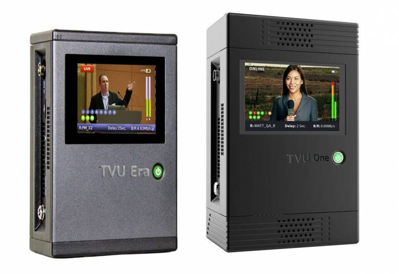 The new TVU Era and camera-mounted TVU One with bandwidth-efficient HEVC compression will be on display in the TVU stand at IBC.