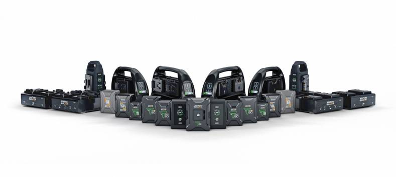 The complete range of Anton/Bauer mobile power solutions.