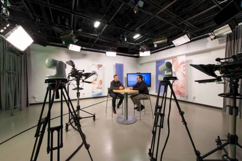 Providence Health & Services' new studio includes a mix of PTZ and traditional studio cameras.