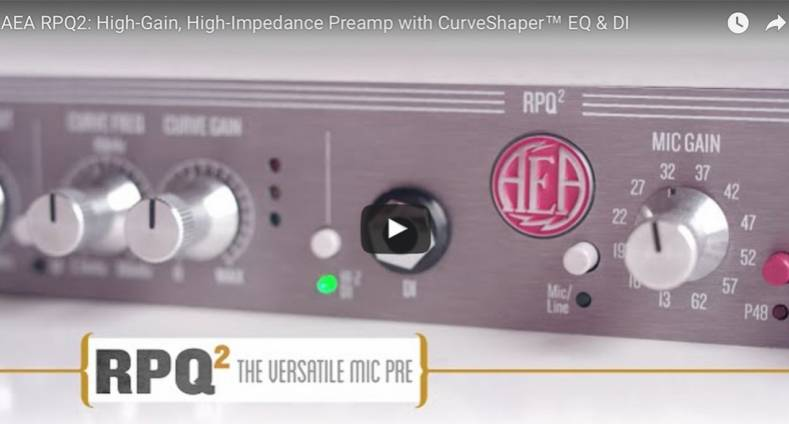 AEA Introduces New Audio Preamps for Ribbon Microphones - The