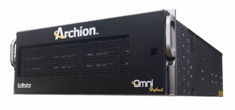 The EditStor Omni Hybrid combines wide bandwidth with high IOPS.