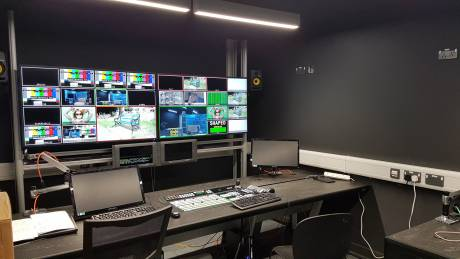 A new production control room at Cardiff University.