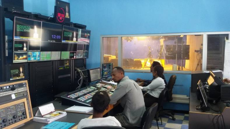 Addis Ababa State TV production room.