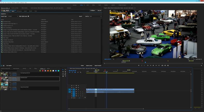 BLAM features a new Adobe Premiere plug-in.