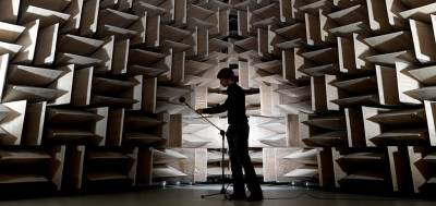 Testing in an anechoic chamber