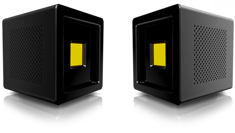 The Anthem One light cube outputs 25,000 lumens in the daylight version.
