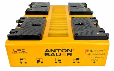 The Anton/Bauer LPD discharges Li-ion batteries below 30% capacity for safe air transport.
