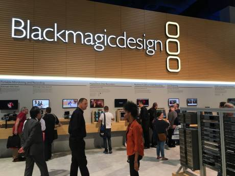 The Blackmagic Design exhibit is a welcome sight as you enter the lower floor of the South Hall of the Las Vegas Convention Center.