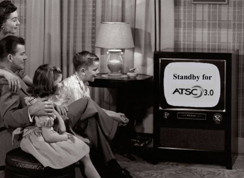 An ancient B&W 4:3 CRT TV was the modern '50s family's primary source for TV news and entertainment, and it was free.