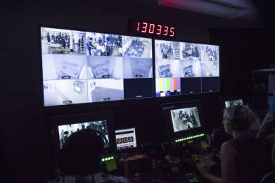Bexel crews designed and implemented a complex security camera system and control room for Clark County Jail in Jeffersonville, Indiana.