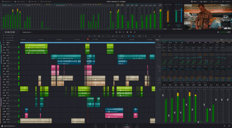 DaVinci Resolve UI showing new Fairlight audio control.