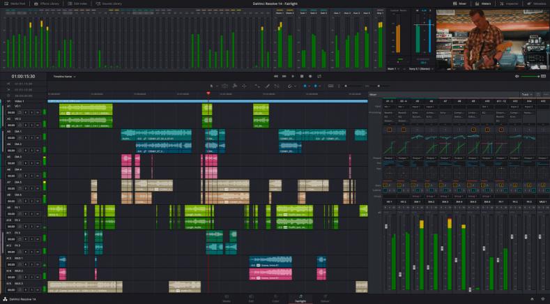 Blackmagic Updates DaVinci Resolve: Adds Fairlight Audio Mix and