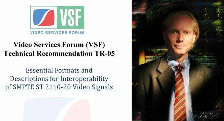 Simen Frostad, Bridge Technologies applauds the release of the VSF recommendation TR-05.