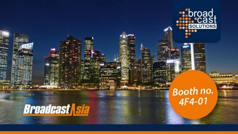 Broadcast Solutions is promoting future products at Broadcast Asia trade show in Singapore.