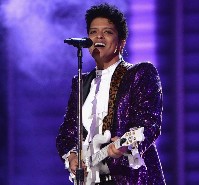 Bruno Mars at the Grammys.