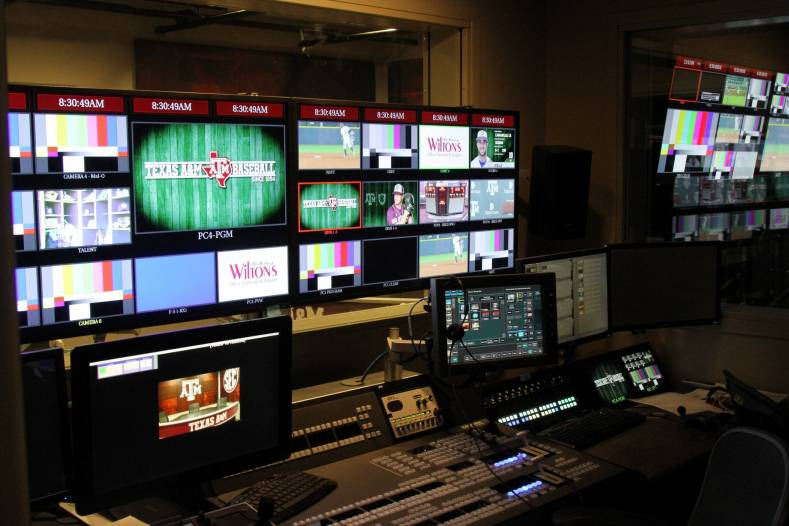 The 12th Man Production Studio in College Station TX, courtesy Texas A&M Athletics.