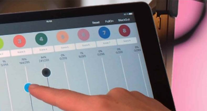 Connect-One Allows DMX Control of Lighting from a Tablet or
