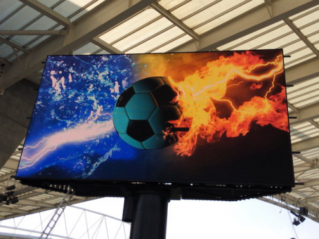 The new in-stadium displays are a big hit with fans and the 4K-compatible Calibre scalers provide a future proof tool.