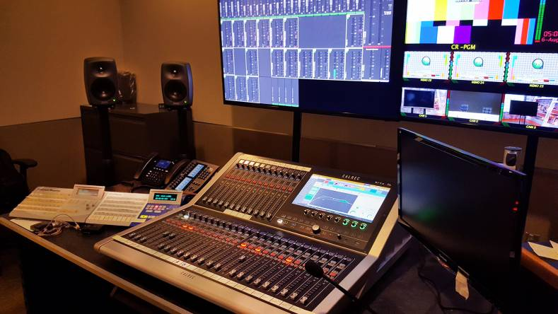The broadcaster now relies on Calrec Audio's Brio 36 and Summa digital audio consoles.
