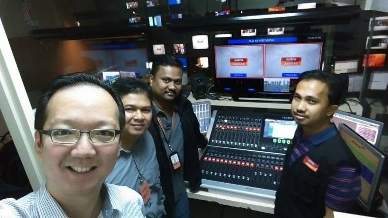 Astro Awani staff transitioned to the new Calrec Brio console in just six hours.