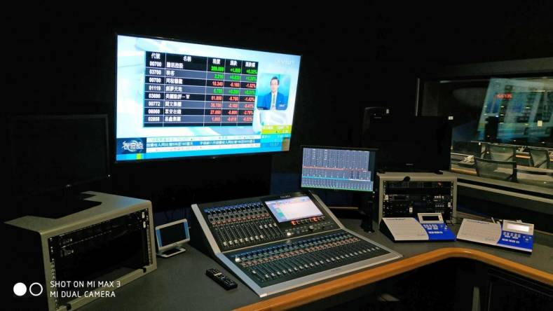 A new Calrec Brio sits in ViuTV's Studio 2 and is used to produce a variety of local talk shows.