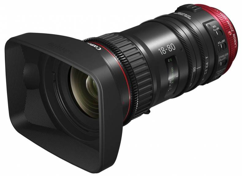 The new CN-E18-80mm cine zoom lens for Canon's Cinema EOS cameras