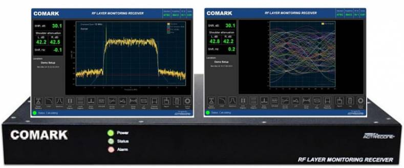 On exhibit with cameras and transmitters will be Comark's QoS-1000 RF testing and monitoring solution with the latest ATSC 3.0 software.