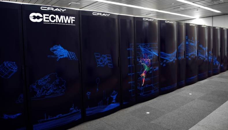 Cray computers at the European Centre for Medium Range Weather Forecasts.