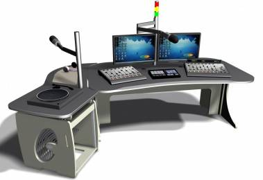 The EditOne-Radio desk is available as a flatpack workstation that can be assembled in less than an hour.