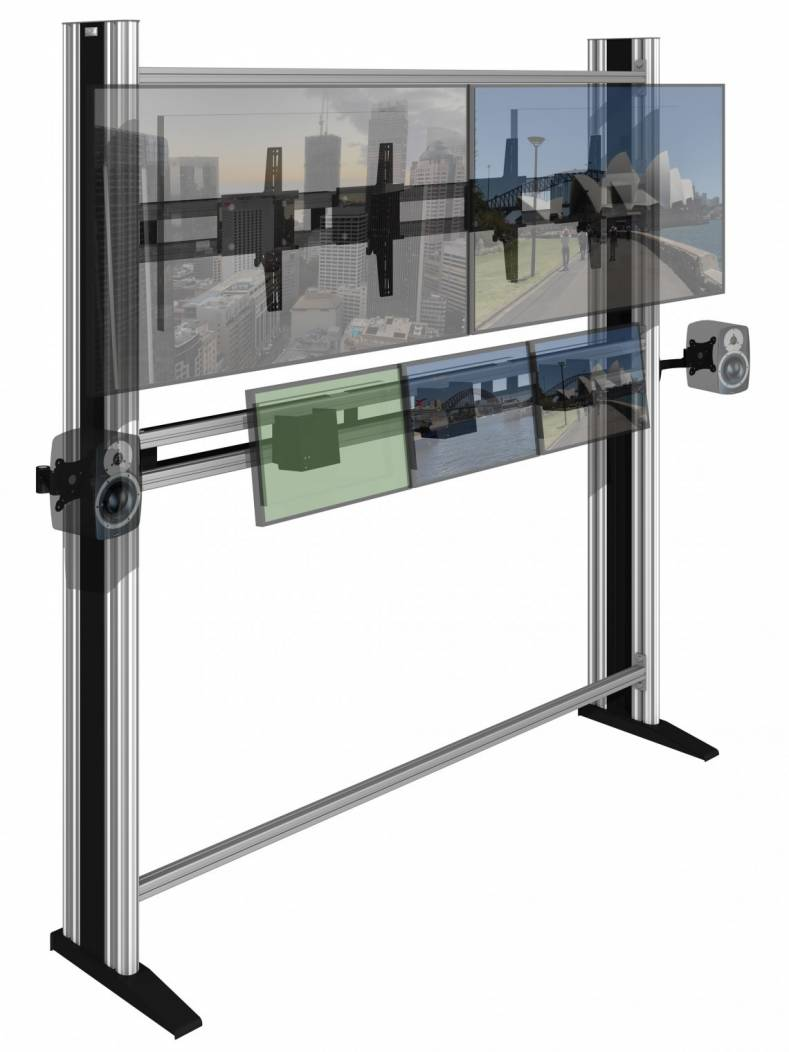 The MediaWall mounting system has been redesigned so that display panels can be mounted more easily than before.