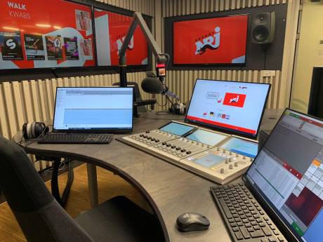 The newly integrated DHD Audio RX2 control desk at NRJ Norway