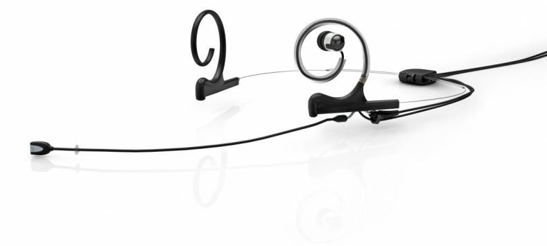 The d:fine headset design incorporates two cables—microphone and in-ear—that run parallel to give a neat and clean look.