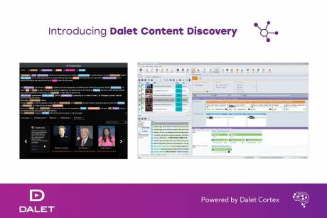 Dalet Content Discovery uses automatic content tagging, topic extraction and key phrase searches