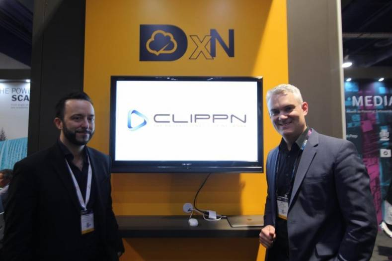 Frederic Roux, director of sales, Americas, Dalet and Mick Reed, founder and CEO, Clippn