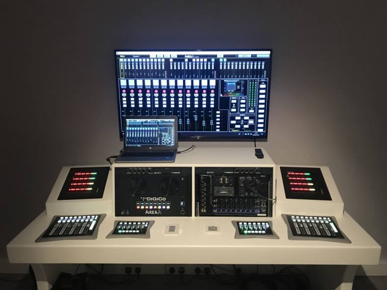 At the heart of the compact audio console is the 4REA4 processing engine, with 4REA4 control software.