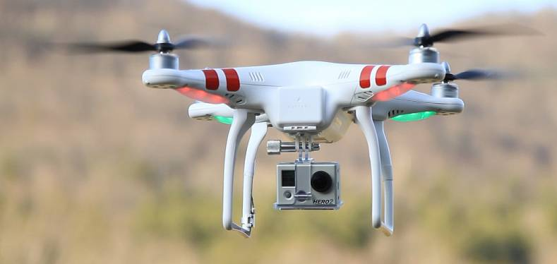 A drone with a GoPro camera -- but not the Karma.