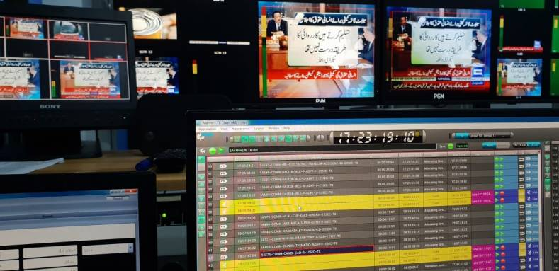 The Dunya News channel prides itself on using state-of-the-art technology.