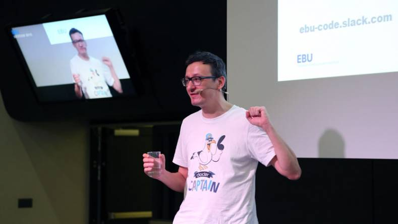 Viktor Farcic led a 'show and tell' workshop at the EBU's annual Devcon conference