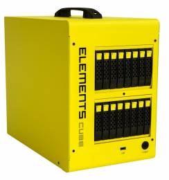 Elements Cube supports SAS, SATA and SSD drives.