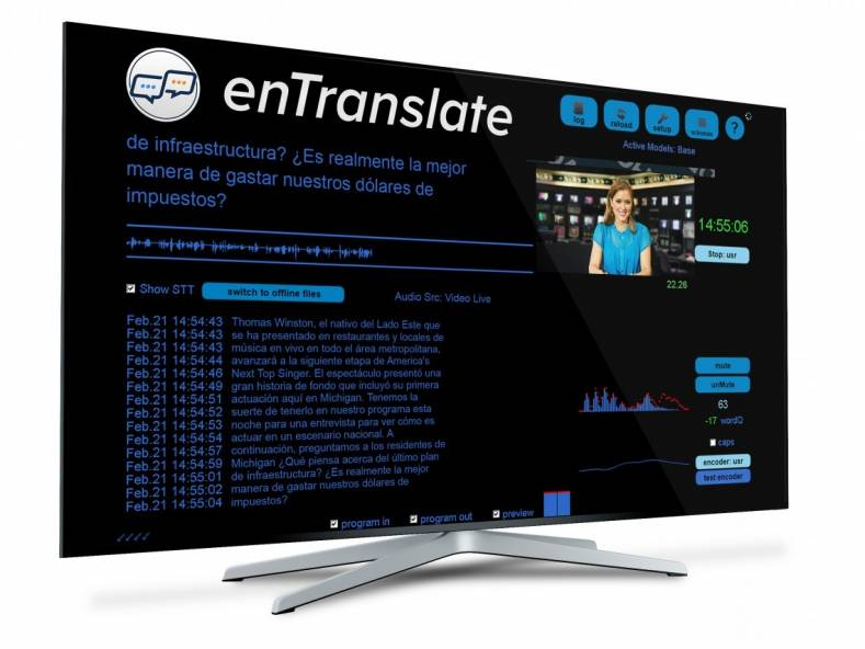 The new enTranslate software offers broadcasters an easy and affordable solution to automatically translate content on TV and online.