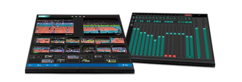 The X-One allows a single ORF operator to cut together a live feed with a built-in video switcher and add graphics.