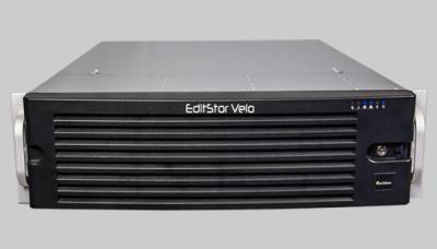Archion's EditStor Velo combines 12GB storage capacity in a 16-bay chassis to deliver a throughput of up to 2500 MB/sec.