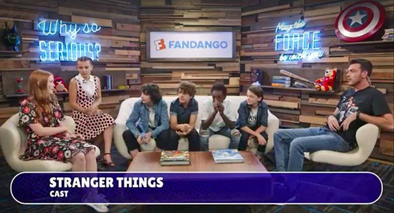 Live graphics featuring social interactions and polls encouraged fans to ask questions and engage with Fandango hosts and guests online.