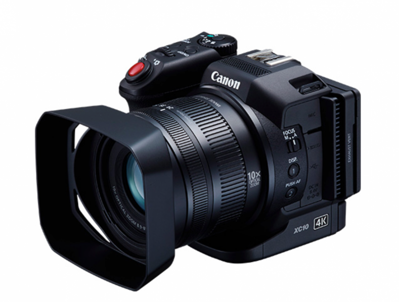 Figure 1: Canon XC10—UHD/FHD 4:2:2 camera with a 1-inch CMOS sensor.